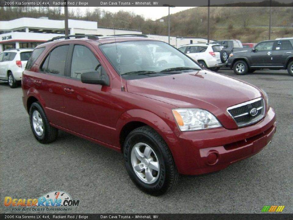 2006 kia sorento lx 4x4 radiant red beige photo 1. Black Bedroom Furniture Sets. Home Design Ideas