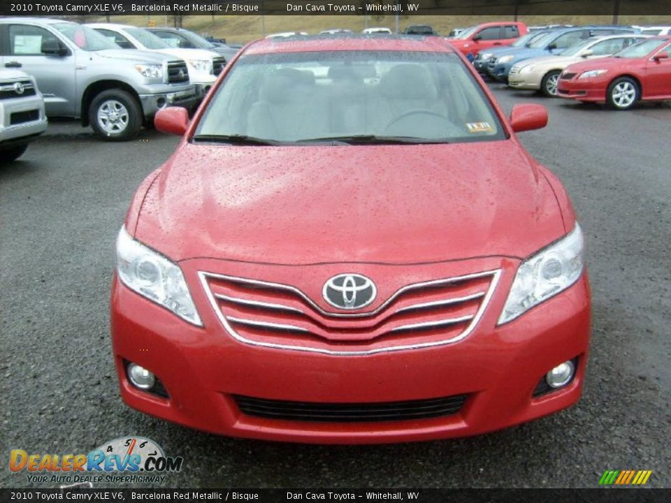 2010 toyota camry xle v6 barcelona red metallic bisque photo 2. Black Bedroom Furniture Sets. Home Design Ideas