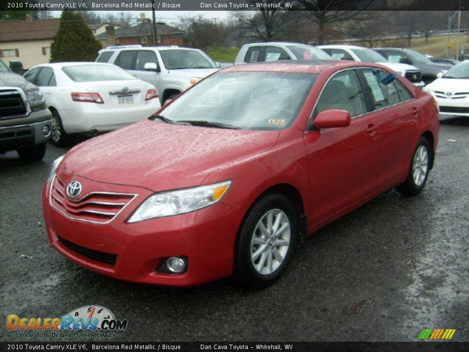 2010 toyota camry xle v6 barcelona red metallic bisque photo 3. Black Bedroom Furniture Sets. Home Design Ideas