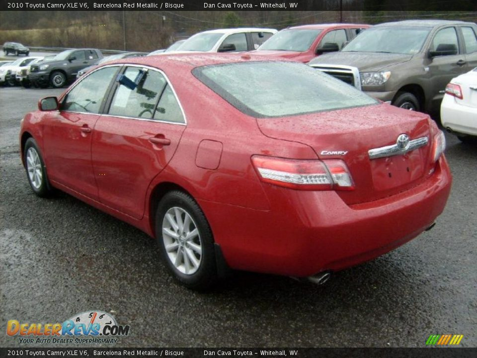 2010 toyota camry xle v6 barcelona red metallic bisque photo 4. Black Bedroom Furniture Sets. Home Design Ideas