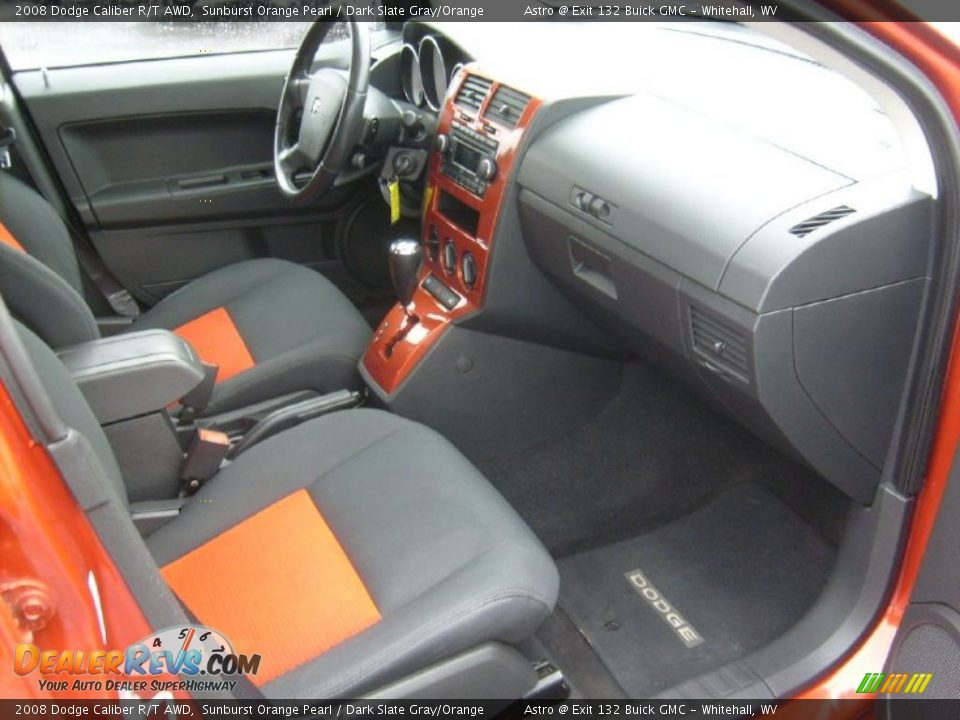 dark slate gray orange interior 2008 dodge caliber r t awd photo 18. Black Bedroom Furniture Sets. Home Design Ideas