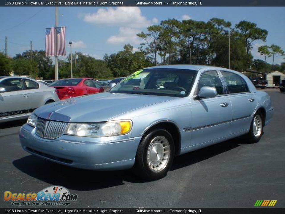 1998 Lincoln Town Car Executive Light Blue Metallic Light Graphite