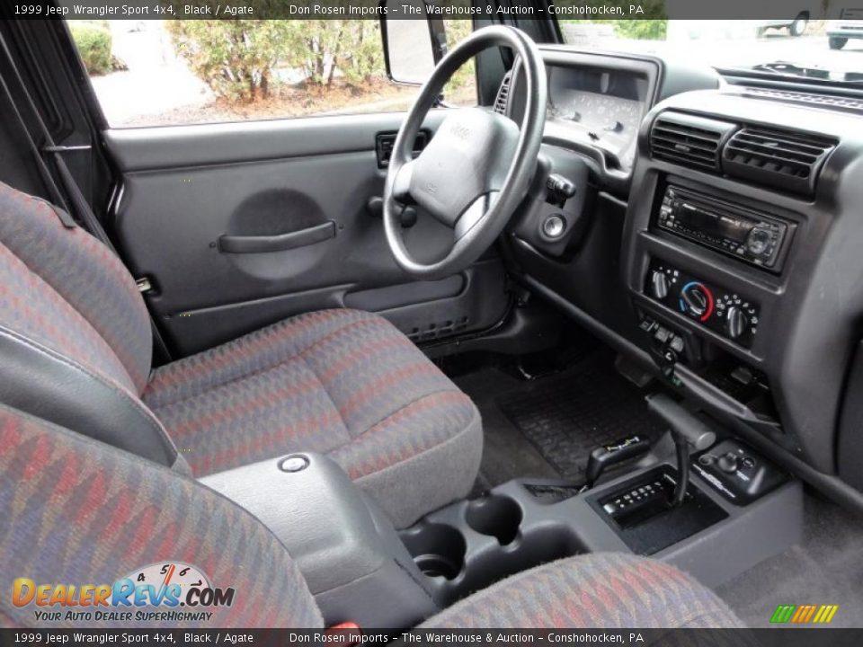 Agate Interior 1999 Jeep Wrangler Sport 4x4 Photo 18