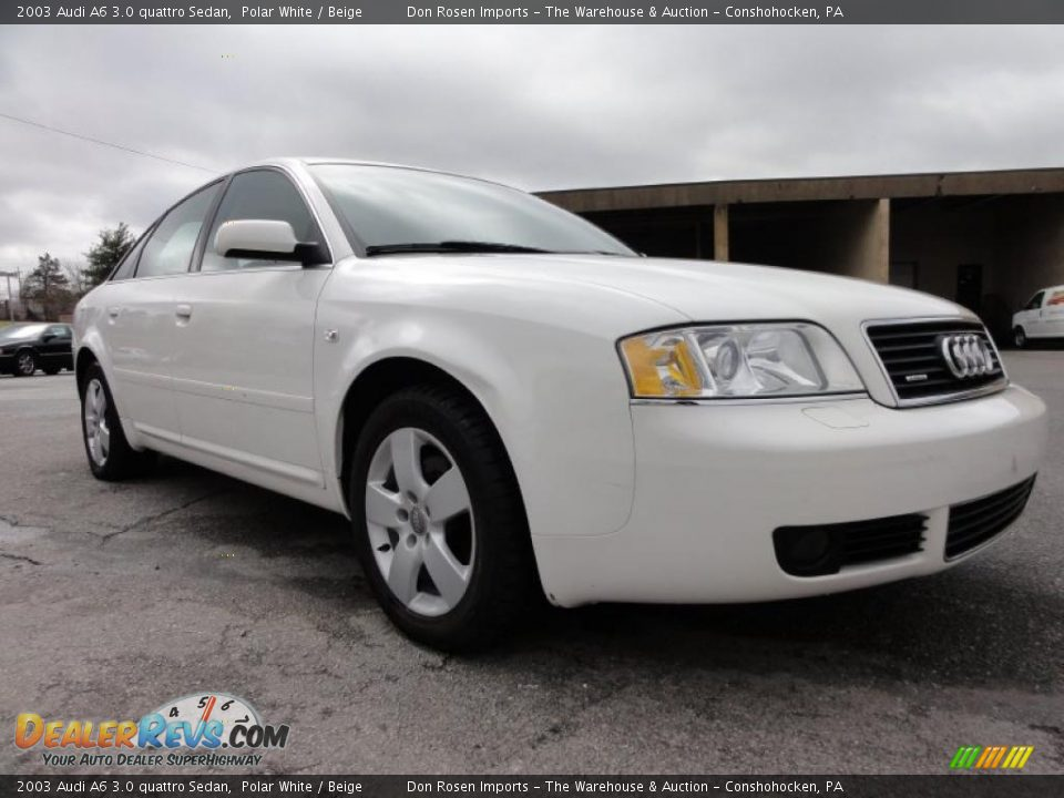 2003 Audi A6 3 0 Quattro Sedan Polar White Beige Photo