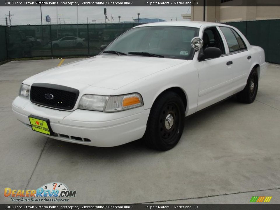 2008 ford crown victoria police interceptor vibrant white. Black Bedroom Furniture Sets. Home Design Ideas