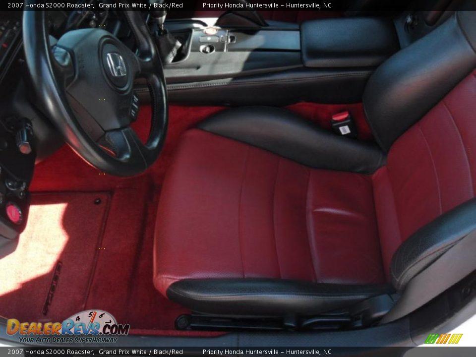 Black Red Interior 2007 Honda S2000 Roadster Photo 7
