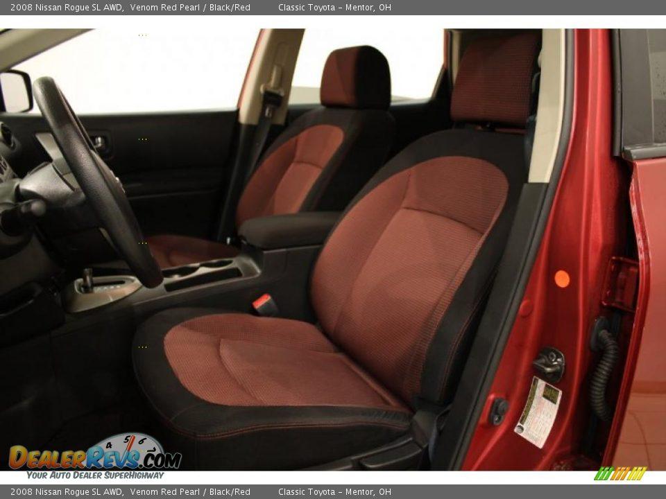 Black Red Interior 2008 Nissan Rogue Sl Awd Photo 7