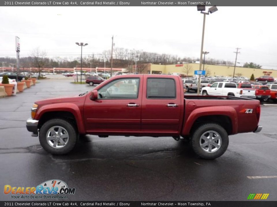 cardinal red metallic 2011 chevrolet colorado lt crew cab 4x4 photo 4. Black Bedroom Furniture Sets. Home Design Ideas