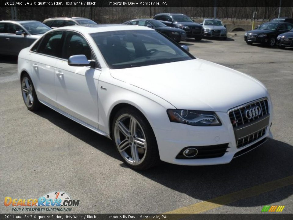 ibis white 2011 audi s4 3 0 quattro sedan photo 2. Black Bedroom Furniture Sets. Home Design Ideas