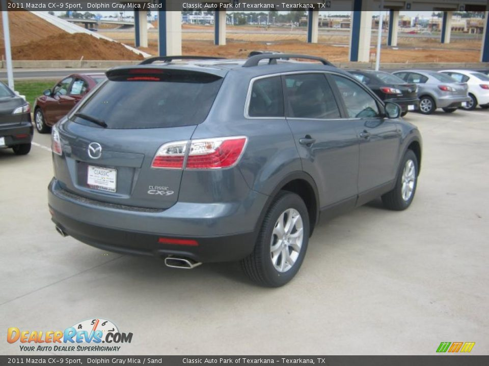 2011 mazda cx 9 sport dolphin gray mica sand photo 5. Black Bedroom Furniture Sets. Home Design Ideas