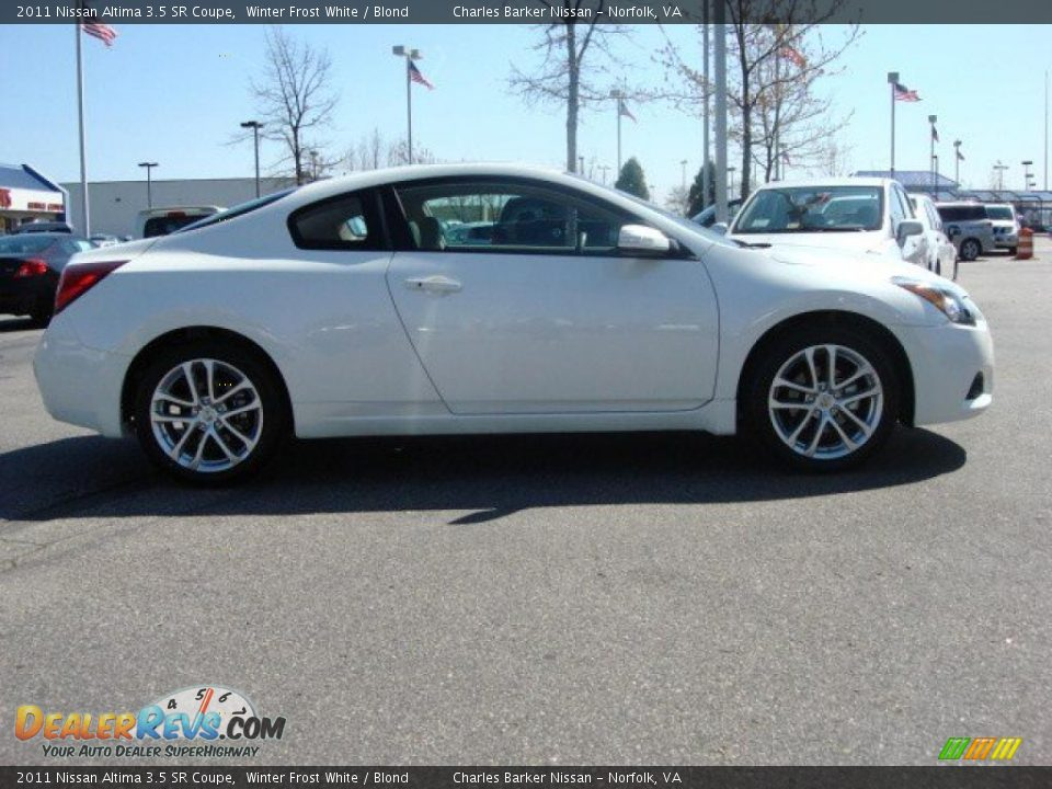 2011 nissan altima 3 5 sr coupe winter frost white blond photo 3. Black Bedroom Furniture Sets. Home Design Ideas