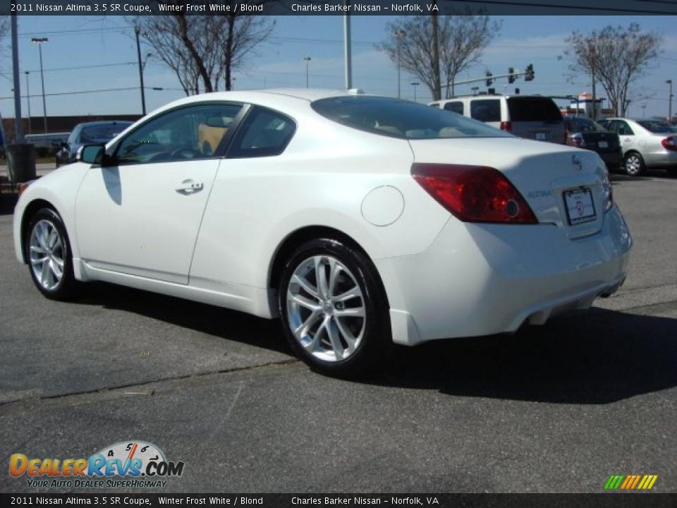 2011 nissan altima 3 5 sr coupe winter frost white blond photo 6. Black Bedroom Furniture Sets. Home Design Ideas