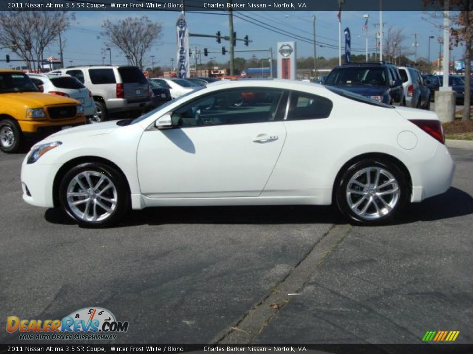 winter frost white 2011 nissan altima 3 5 sr coupe photo. Black Bedroom Furniture Sets. Home Design Ideas