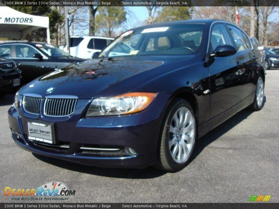 2006 bmw 3 series 330xi sedan monaco blue metallic beige photo 1. Black Bedroom Furniture Sets. Home Design Ideas