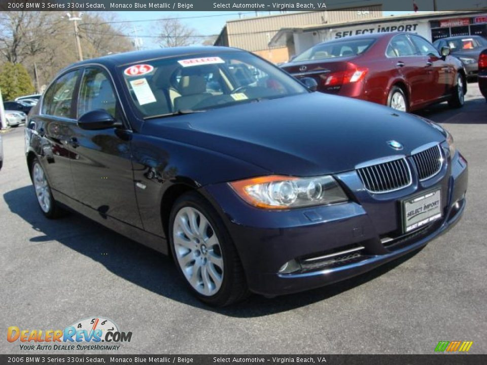 2006 bmw 3 series 330xi sedan monaco blue metallic beige photo 6. Black Bedroom Furniture Sets. Home Design Ideas