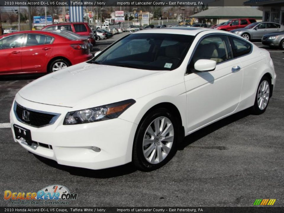 2010 honda accord ex l v6 coupe taffeta white ivory. Black Bedroom Furniture Sets. Home Design Ideas