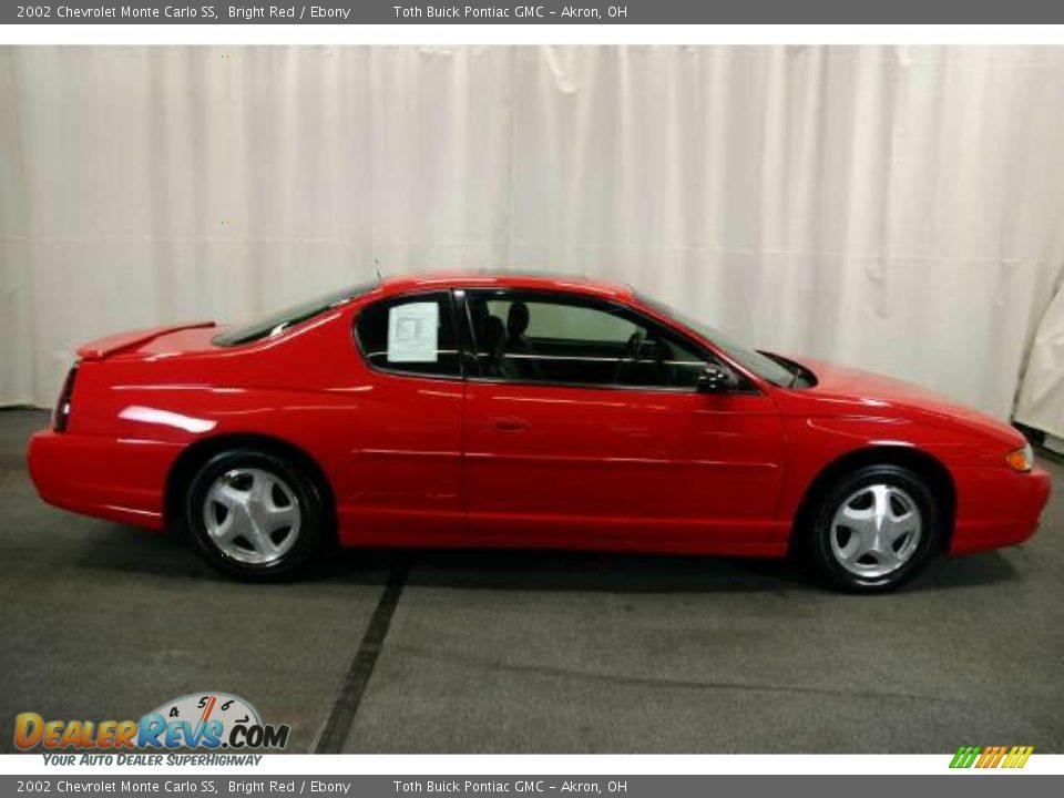 2002 Chevrolet Monte Carlo SS Bright Red / Ebony Photo #2 ...