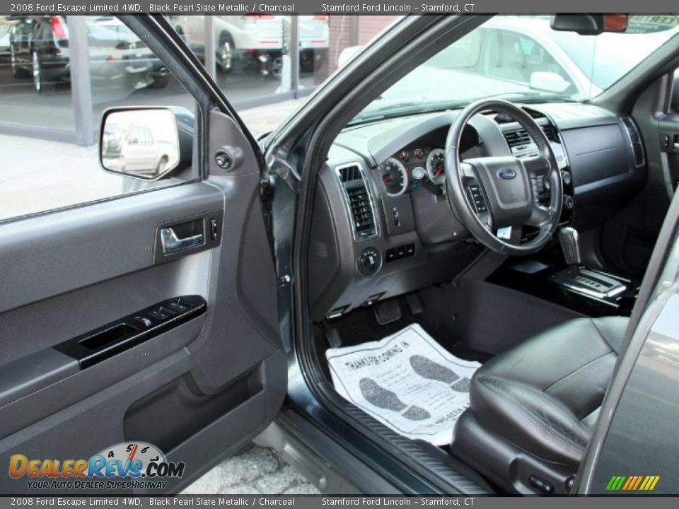 Charcoal Interior 2008 Ford Escape Limited 4wd Photo 9