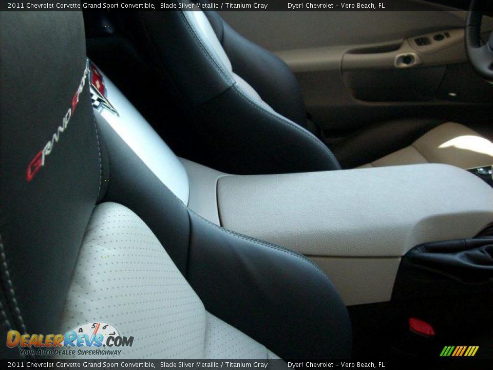 Titanium Gray Interior 2011 Chevrolet Corvette Grand Sport Convertible Photo 7