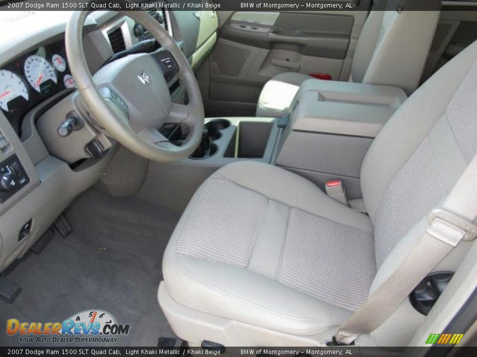 khaki beige interior 2007 dodge ram 1500 slt quad cab photo 15. Black Bedroom Furniture Sets. Home Design Ideas