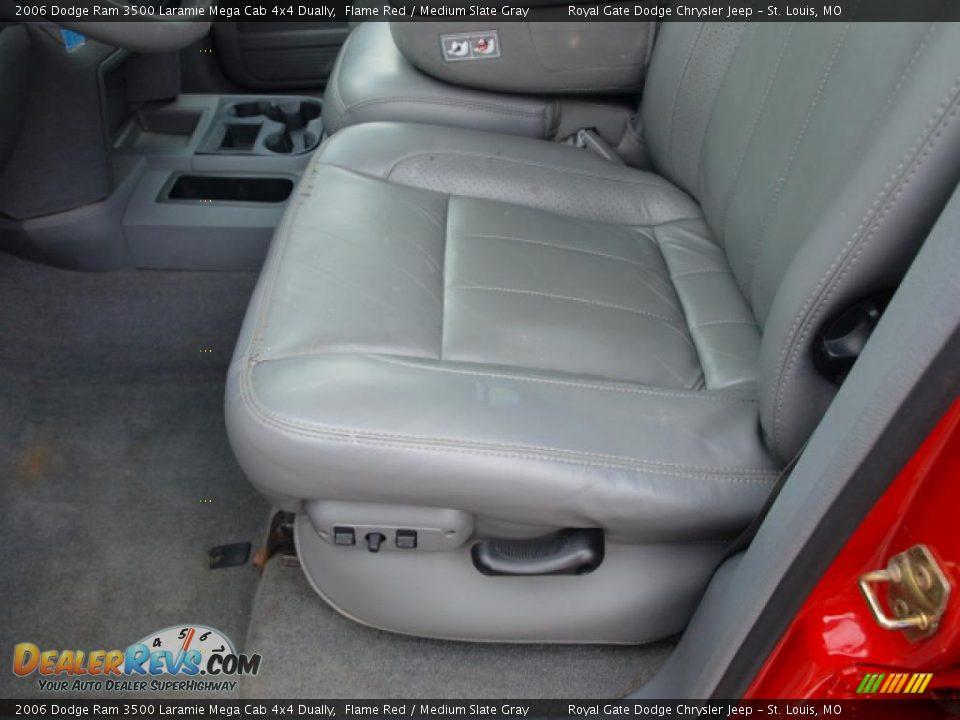 2006 dodge ram 3500 laramie mega cab 4x4 dually flame red medium slate gray photo 15