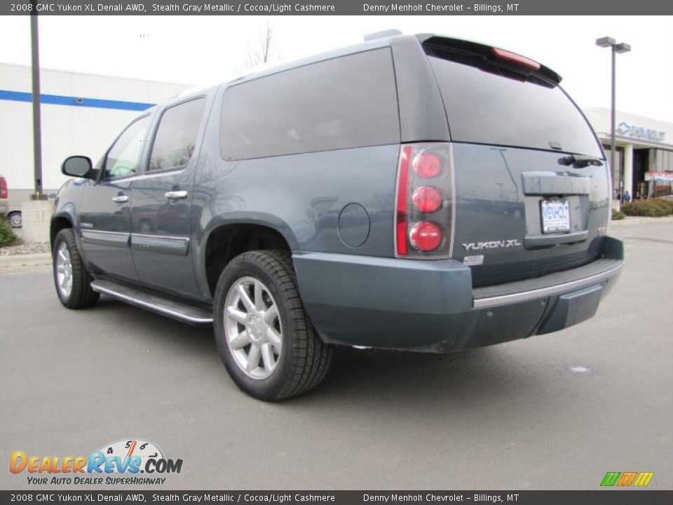 2008 gmc yukon xl denali awd stealth gray metallic cocoa light cashmere photo 8. Black Bedroom Furniture Sets. Home Design Ideas