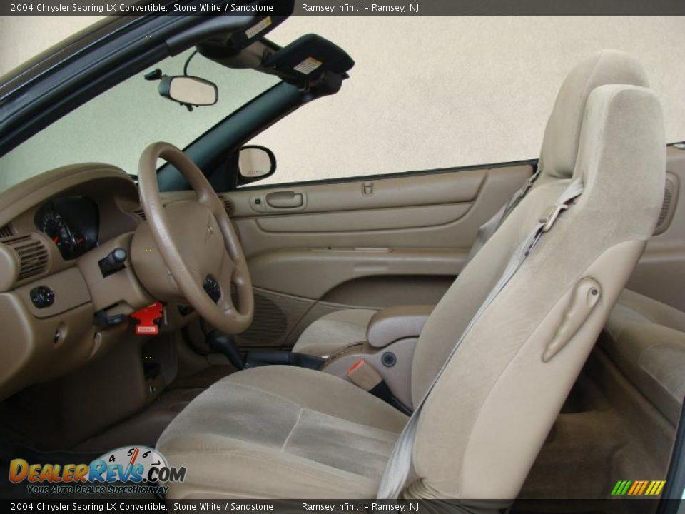 Sandstone Interior 2004 Chrysler Sebring Lx Convertible Photo 8
