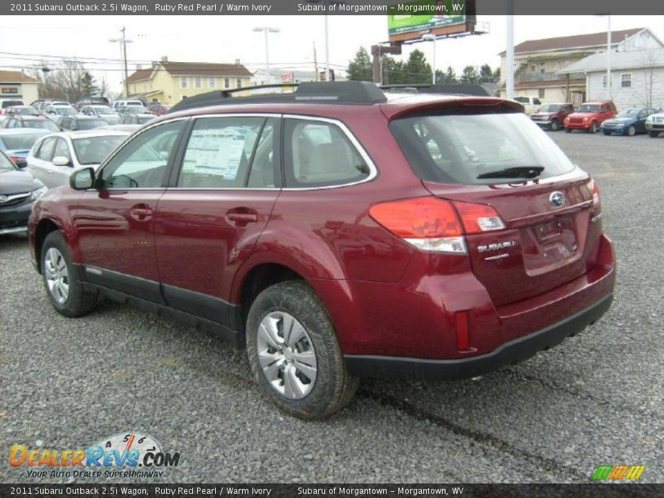 2011 Subaru Outback 2 5i Wagon Ruby Red Pearl Warm Ivory