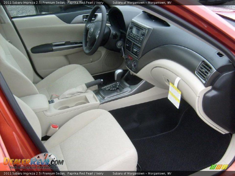 Ivory Interior 2011 Subaru Impreza Premium Sedan Photo 6