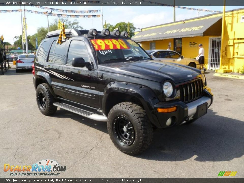 2003 jeep liberty renegade 4x4 black clearcoat taupe. Black Bedroom Furniture Sets. Home Design Ideas
