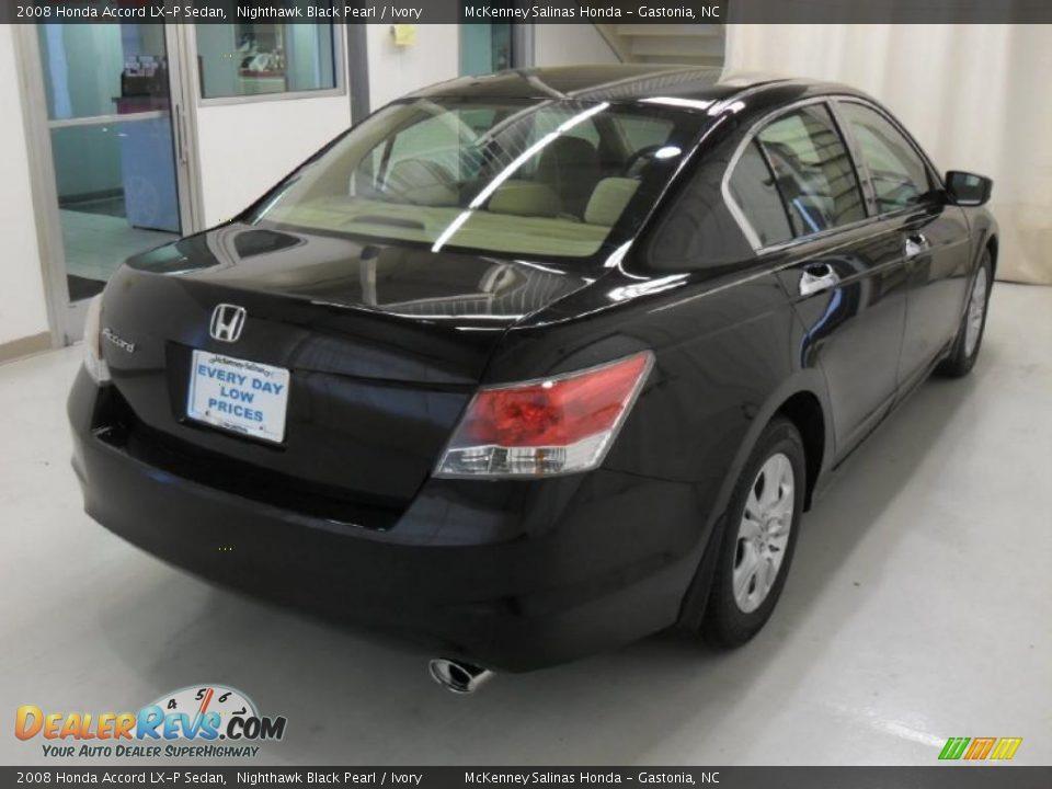 2008 Honda Accord Lx P Sedan Nighthawk Black Pearl Ivory