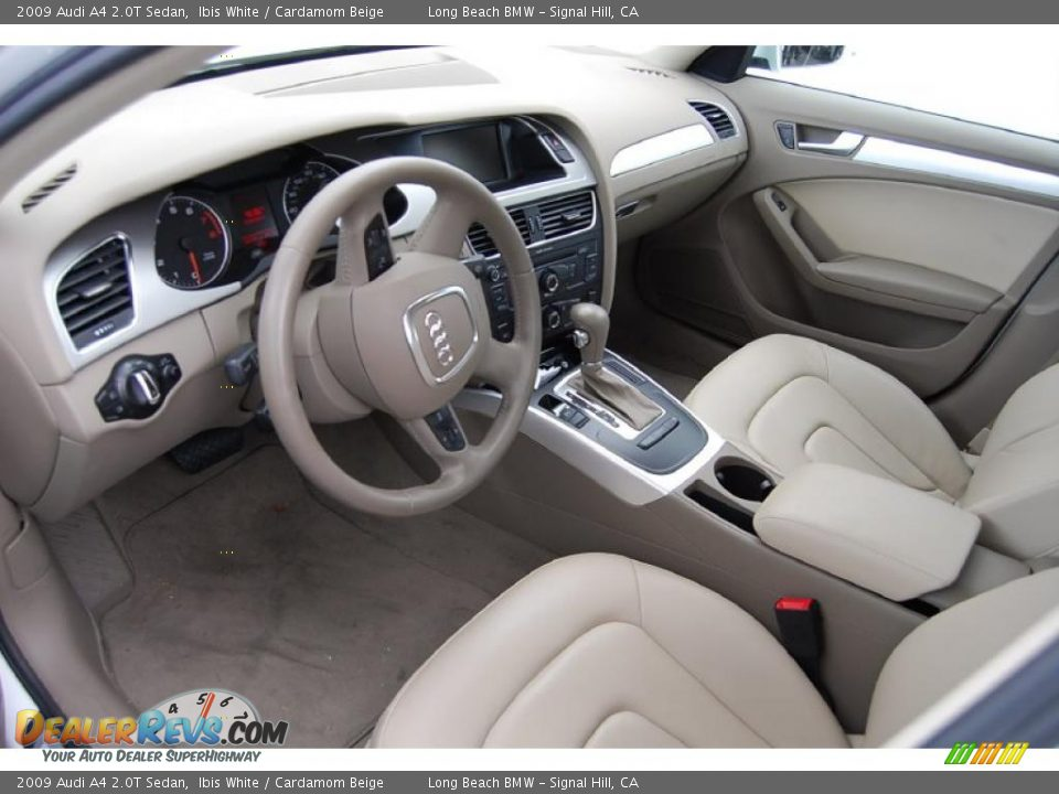 Cardamom Beige Interior 2009 Audi A4 2 0t Sedan Photo 3