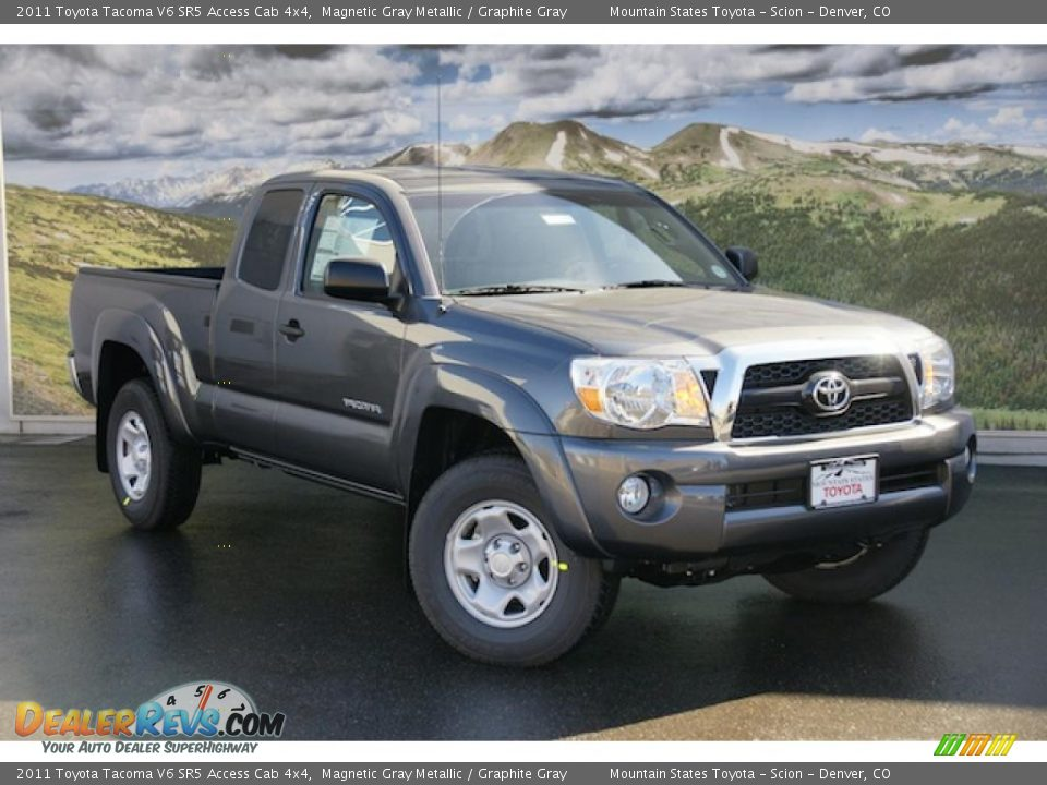2011 toyota tacoma v6 sr5 access cab 4x4 magnetic gray metallic graphite gray photo 1. Black Bedroom Furniture Sets. Home Design Ideas