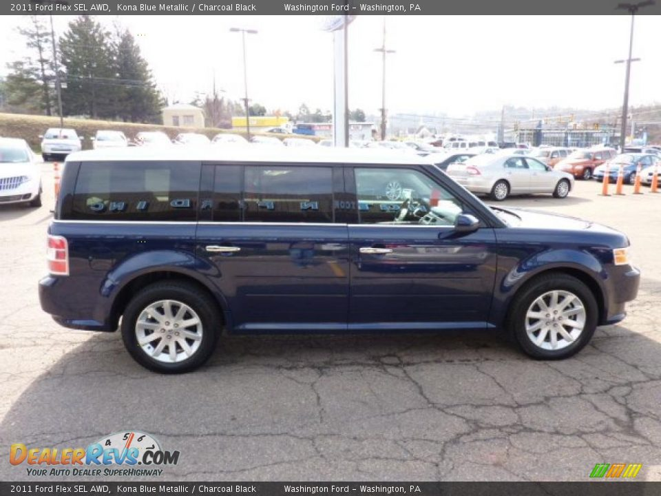2011 ford flex sel awd kona blue metallic charcoal black. Black Bedroom Furniture Sets. Home Design Ideas