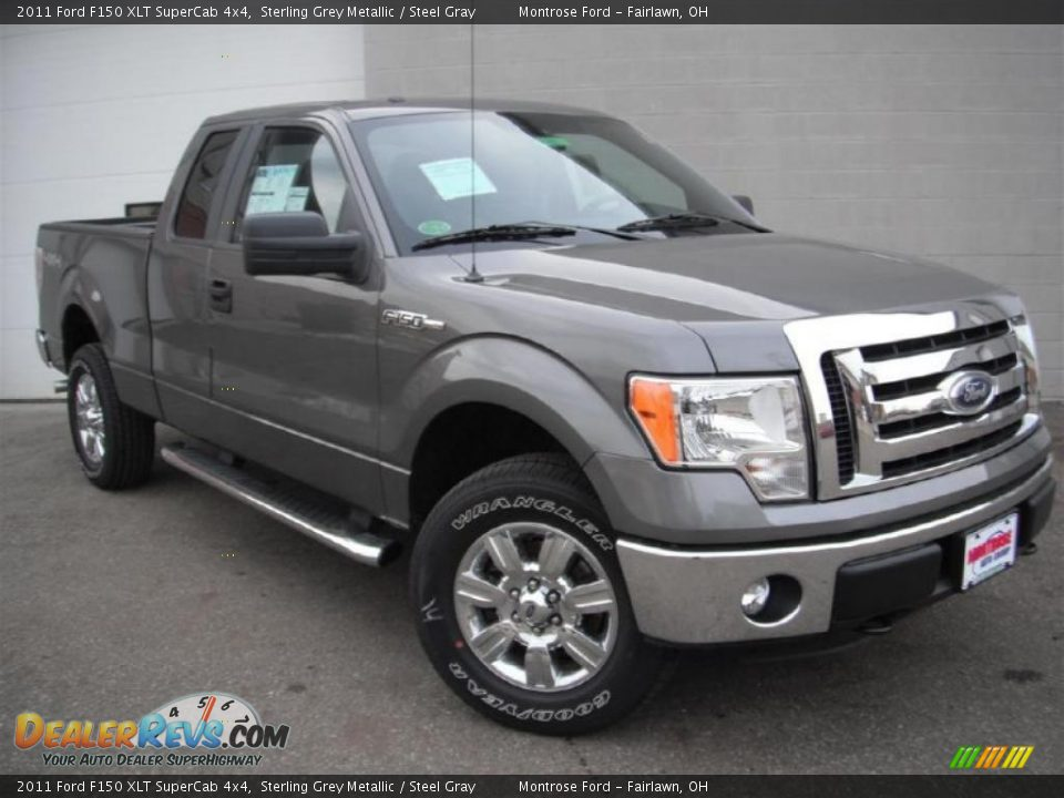 2011 ford f150 xlt supercab 4x4 sterling grey metallic steel gray photo 2. Black Bedroom Furniture Sets. Home Design Ideas