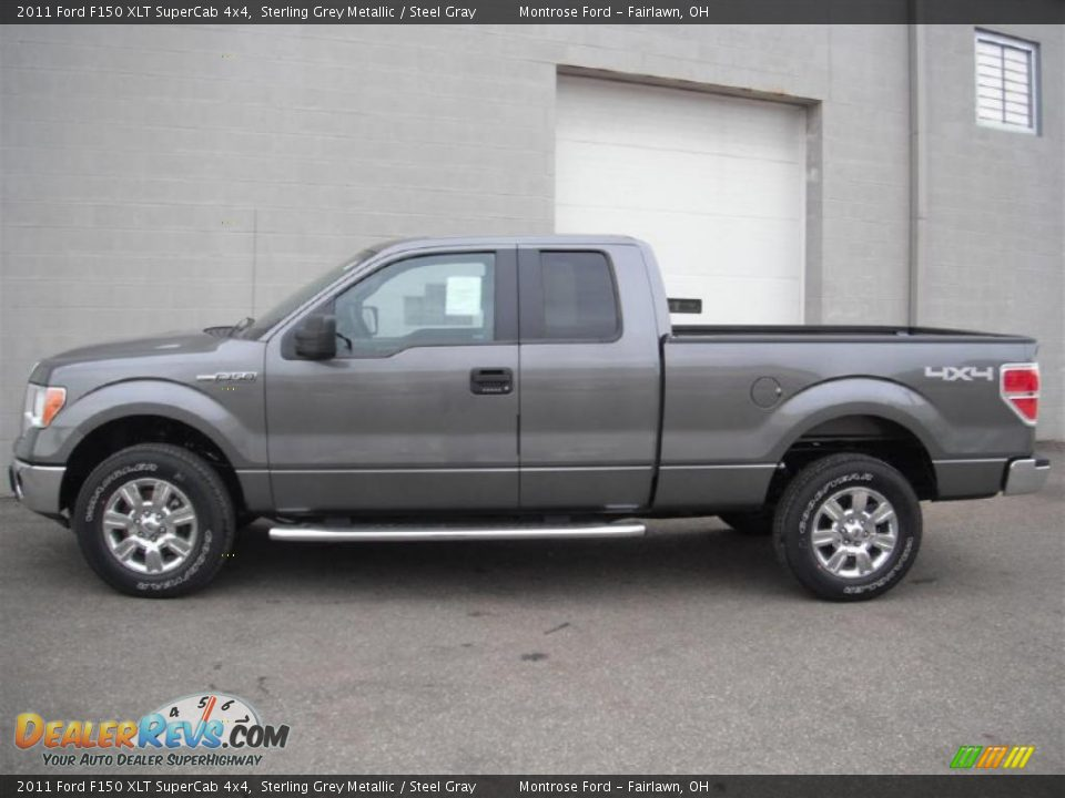 2011 ford f150 xlt supercab 4x4 sterling grey metallic steel gray photo 3. Black Bedroom Furniture Sets. Home Design Ideas