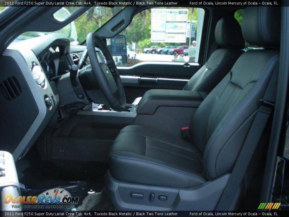 black two tone leather interior 2011 ford f250 super duty lariat crew cab 4x4 photo 6. Black Bedroom Furniture Sets. Home Design Ideas