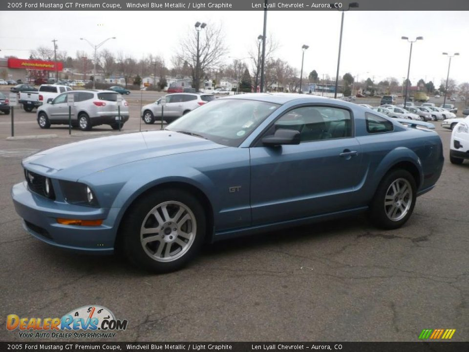 2005 ford mustang gt premium coupe windveil blue metallic. Black Bedroom Furniture Sets. Home Design Ideas