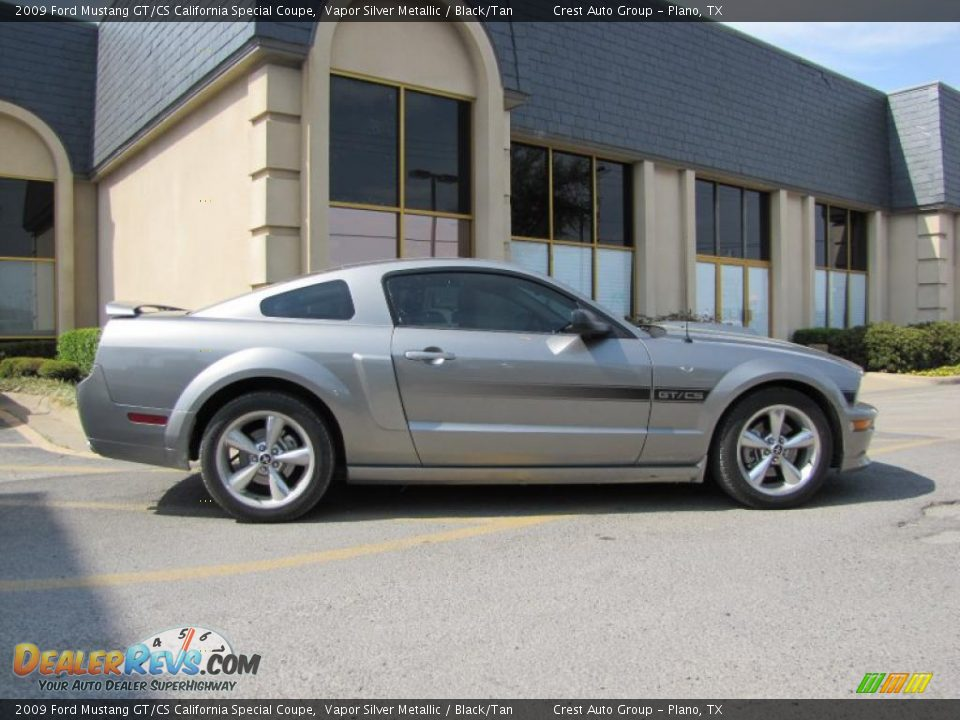 2009 ford mustang gt cs california special coupe vapor silver metallic black tan photo 8. Black Bedroom Furniture Sets. Home Design Ideas