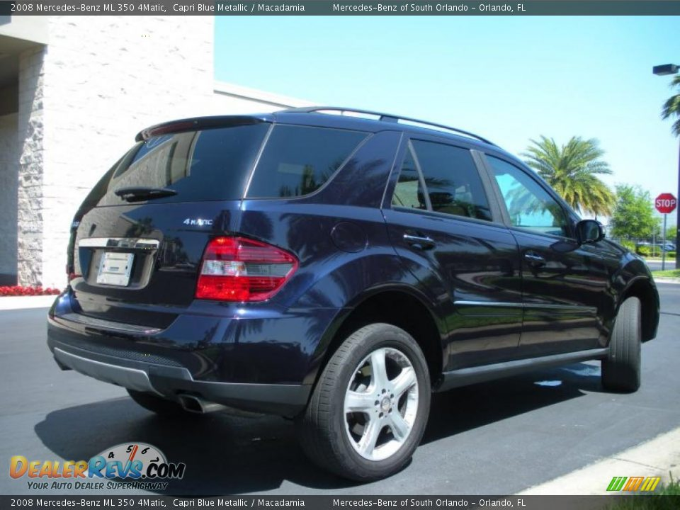 2008 mercedes benz ml 350 4matic capri blue metallic for Mercedes benz ml 350 2008