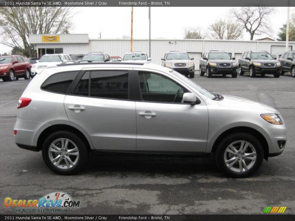 Moonstone Silver 2011 Hyundai Santa Fe Se Awd Photo 5