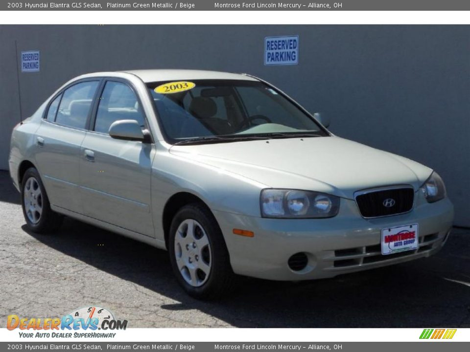 2003 Hyundai Elantra Gls Sedan Platinum Green Metallic
