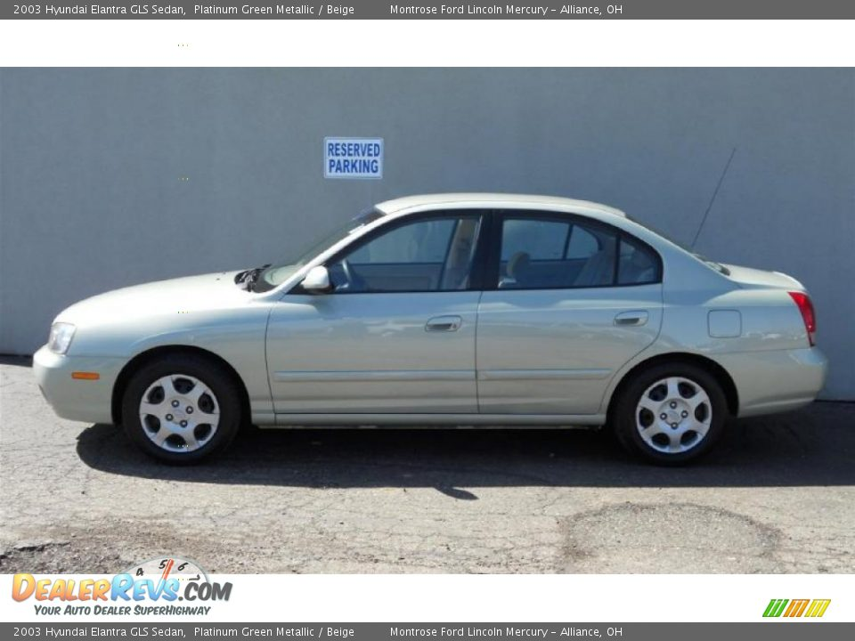 2003 hyundai elantra gls sedan platinum green metallic beige photo 6 dealerrevs com 2003 hyundai elantra gls sedan platinum green metallic beige photo 6 dealerrevs com