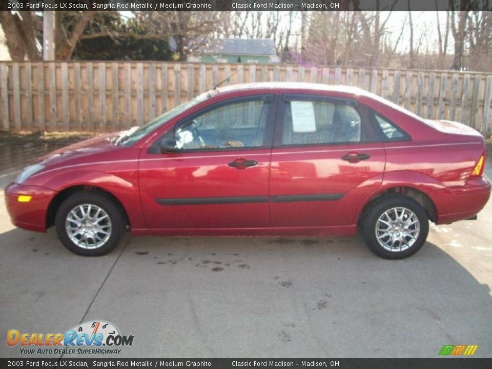 sangria red metallic 2003 ford focus lx sedan photo 3. Black Bedroom Furniture Sets. Home Design Ideas