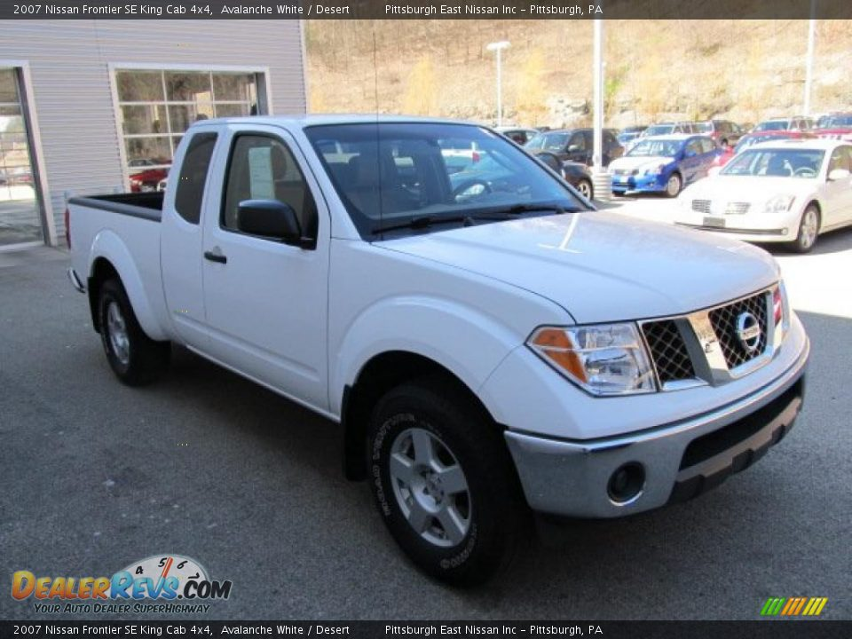 2007 nissan frontier se king cab 4x4 avalanche white desert photo 6. Black Bedroom Furniture Sets. Home Design Ideas