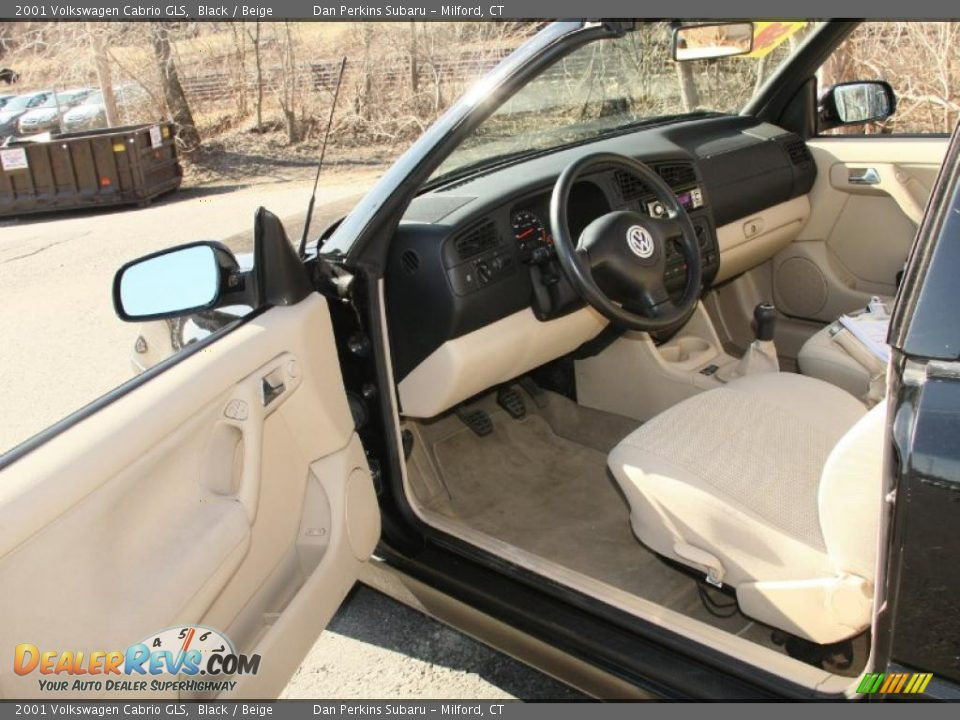beige interior 2001 volkswagen cabrio gls photo 11 dealerrevs com dealerrevs com