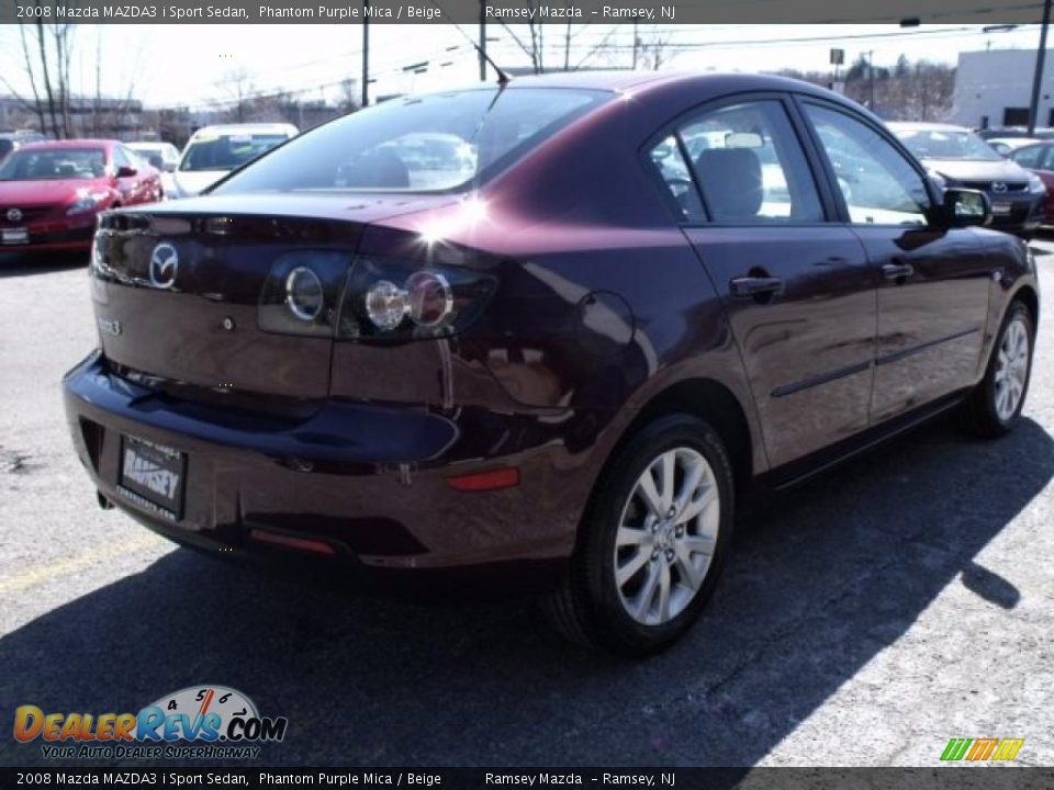2008 mazda mazda3 i sport sedan phantom purple mica. Black Bedroom Furniture Sets. Home Design Ideas