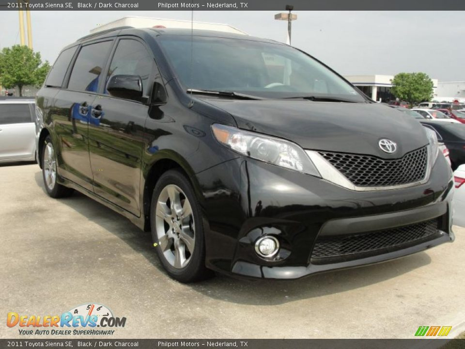 2011 toyota sienna se black dark charcoal photo 1. Black Bedroom Furniture Sets. Home Design Ideas