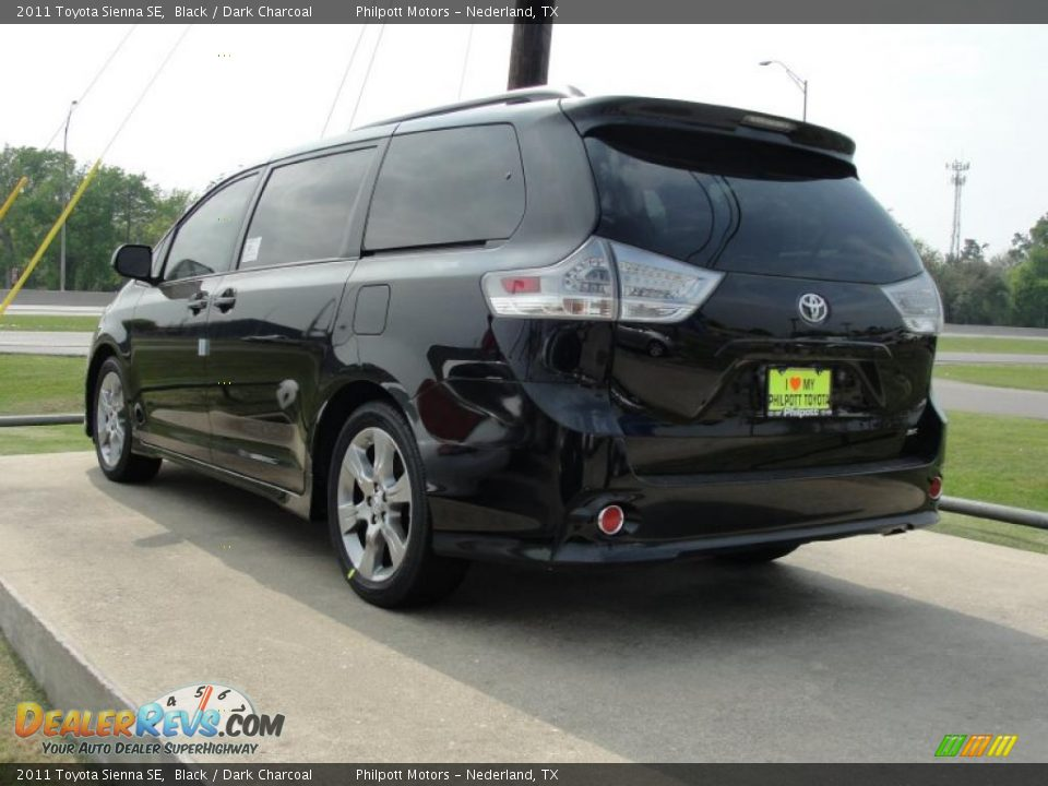 2011 toyota sienna se black dark charcoal photo 5. Black Bedroom Furniture Sets. Home Design Ideas