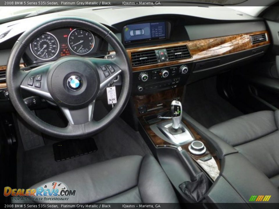 Black Interior 2008 Bmw 5 Series 535i Sedan Photo 8
